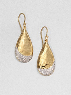 Adriana Orsini - Hammered Pave Drop Earrings