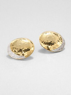 Adriana Orsini - Hammered Pave Stud Earrings