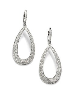 Adriana Orsini - Pave Crystal Teardrop Drop Earrings