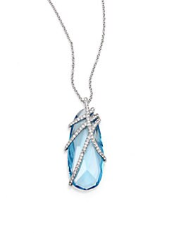 Adriana Orsini - Pave Crystal Pendant Necklace