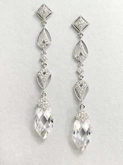 Adriana Orsini - Stone Accented Long Drop Earrings