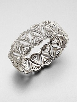 Adriana Orsini - Crystal Encrusted Deco Fan Bangle Bracelet