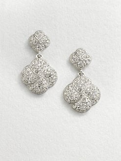 Adriana Orsini - Crystal Encrusted Knot Drop Earrings