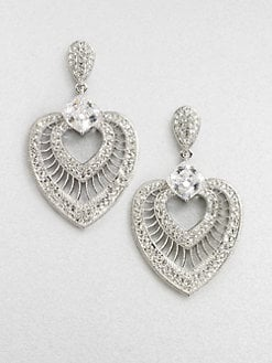Adriana Orsini - Crystal Accented Fan Drop Earrings
