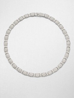 Adriana Orsini - Crystal Accented Oval Motif Collar Necklace