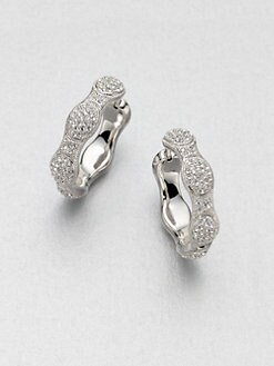 Adriana Orsini - Crystal Accented Oval Motif Hoop Earrings