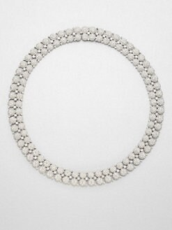 Adriana Orsini - Crystal Accented Dual Row Collar Necklace
