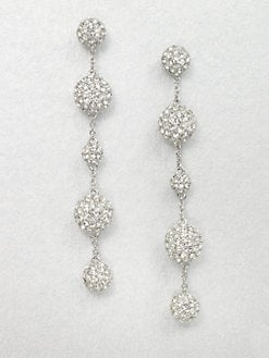 Adriana Orsini - Crystal Accented Five Ball Drop Earrings
