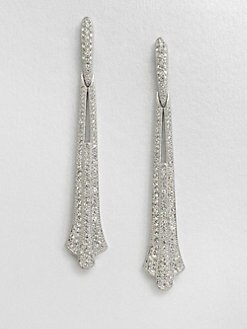 Adriana Orsini - Crystal Accented Linear Earrings