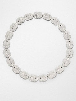Adriana Orsini - Crystal Encrusted Interlocking Circles Link Necklace