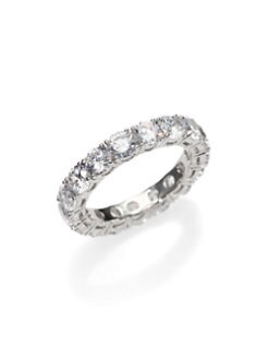Adriana Orsini - Sterling Silver Eternity Band Ring