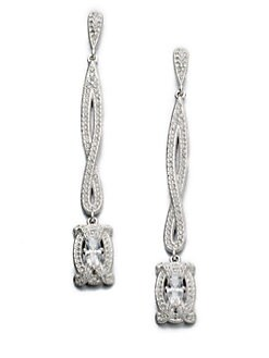 Adriana Orsini - Pav&eacute; Linear Drop Earrings