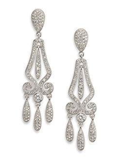 Adriana Orsini - Pave Linear Framed Drop Earrings