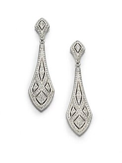 Adriana Orsini - Art Deco Crystal Drop Earrings
