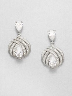Adriana Orsini - Triple-Row Sparkle Drop Earrings