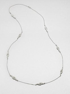 Adriana Orsini - Pavé Feather Station Necklace