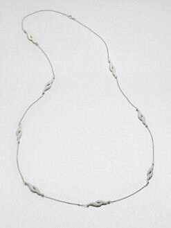 Adriana Orsini - Pav&eacute; Feather Station Necklace