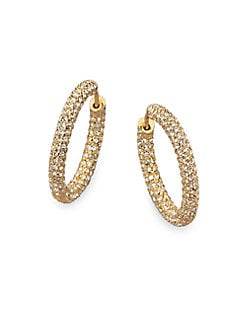 Adriana Orsini - Pave Hoop Earrings/?