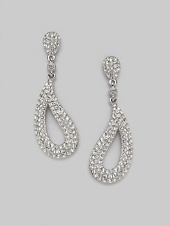 Adriana Orsini - Crystal Pave Apostrophe Drop Earrings