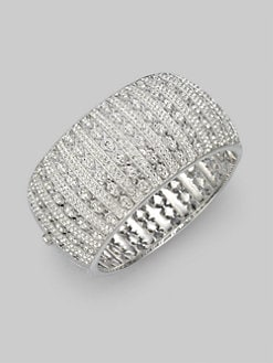 Adriana Orsini - Crystal Pav&#233 Wide Bracelet