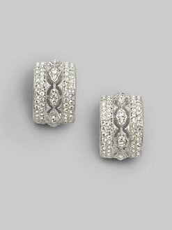 Adriana Orsini - Crystal Pave Hoop Earrings