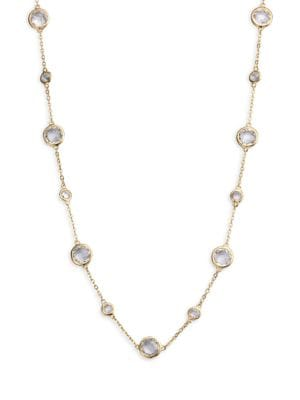 Stationed Bezel-Set Necklace