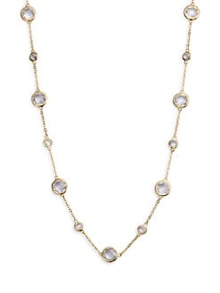 Adriana Orsini - Stationed Bezel-Set Necklace