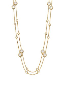 Adriana Orsini - Long Double-Row Station Necklace/18K Goldplating