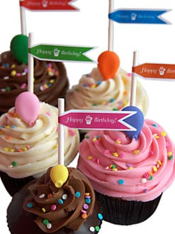 SAS Cupcakes - Happy Birthday Cupcake Collection