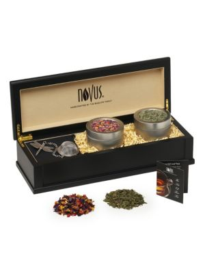 Small Wooden Loose-Leaf Tea Chest Set
