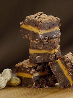 Blissful Brownies - Chocolate-Peanut Butter 6-Brownie Box