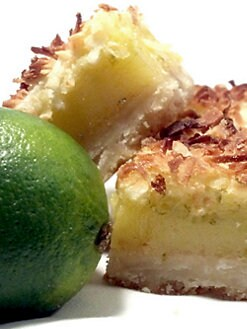 Blissful Brownies - Coconut Key Lime Bars