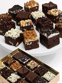 Golden Edibles - Ultimate Chocolate-Dipped Brownie Collection
