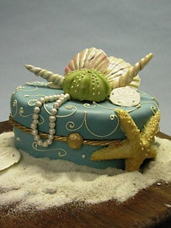 Elegant Cheesecakes - Summer Seashell Cake