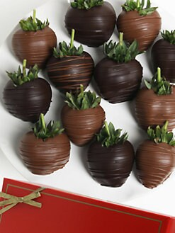 Golden Edibles - Dark & Milk Belgian Chocolate Covered Strawberries