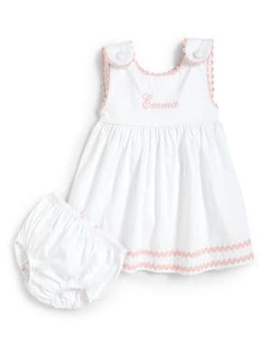 Toddler's Two-Piece Personalized Dress & Diaper Cover Set