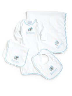 Princess Linens - Luxury Layette Four-Piece Personalized Gift Set
