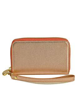 GiGi New York - Metallic Leather Smartphone Wristlet