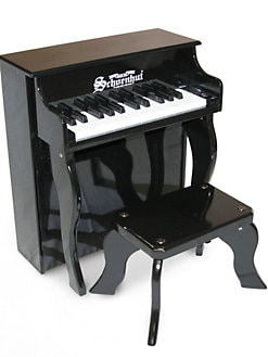 Schoenhut Piano - Kid's Elite Spinet Piano & Bench/Black