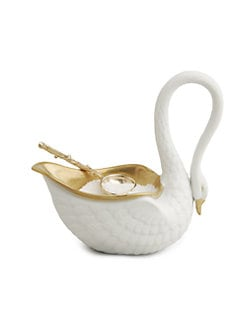 L'Objet - Pocelain Swan Salt Cellar