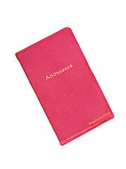 Personalized Leather Address Book
