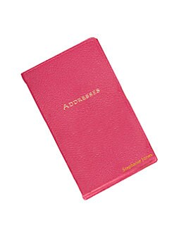 Graphic Image - Personalized Leather Address Book