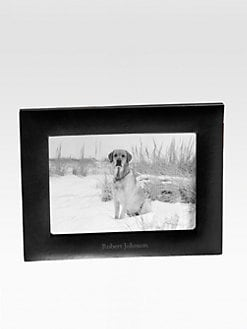 Graphic Image - Personalized 4 x 6 Leather Studio Frame