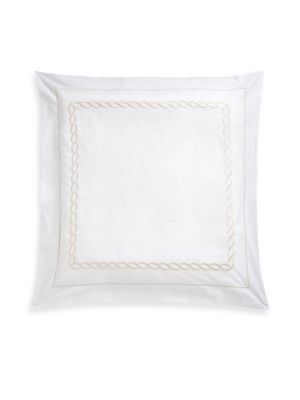 Cable-Embroidered Egyptian Cotton Euro Sham
