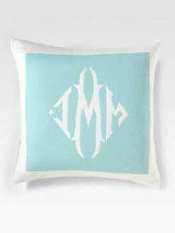 Queen of Cashmere - Personalized Cashmere Pillow/Cambridge & Snow