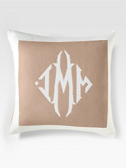 Queen of Cashmere - Personalized Cashmere Pillow/Camel & Snow