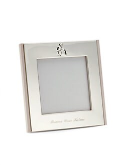 Cunill - Personalized 4 X 4 Silver Bunny Frame