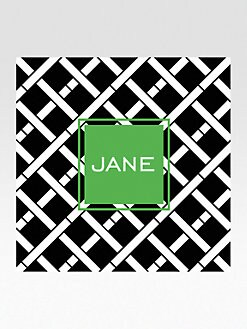 Dabney Lee Stationery - Personalized Coasters/Criss Cross