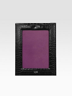 Graphic Image - Personalized 4 X 6 Croco Leather Frame