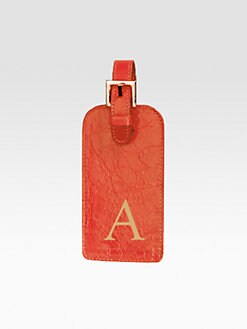 Graphic Image - Personalized Leather Luggage Tag